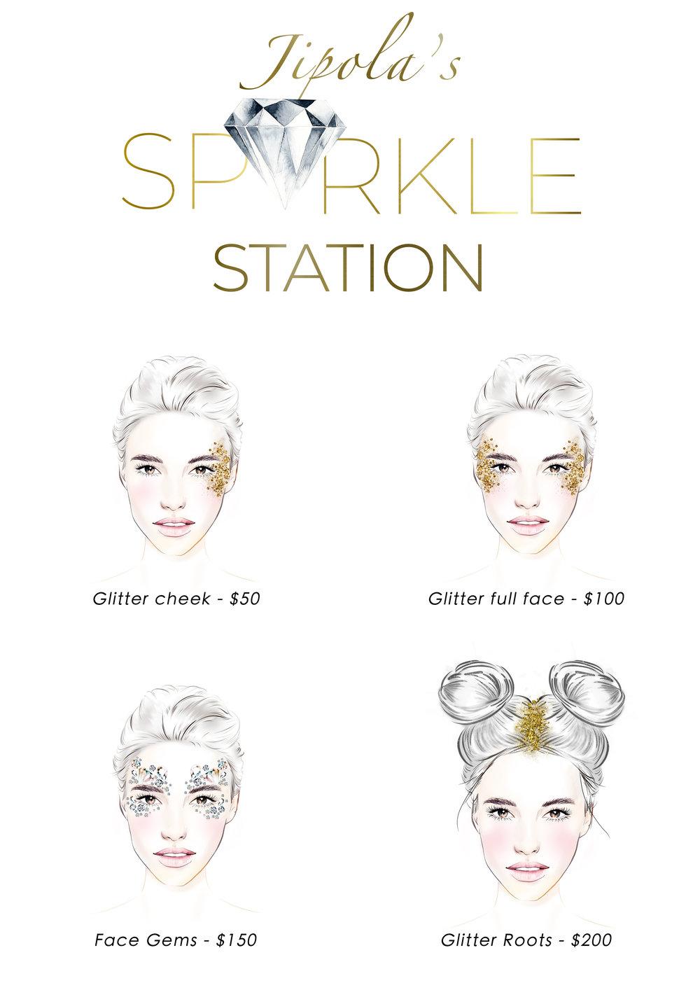 Clockenflap sparkle station illustrations