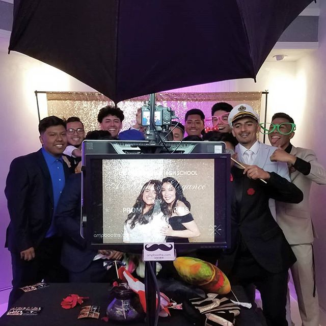 Shout out to #DOMHS for having ampbooths.com out for #Prom2018! Thank you Dr. Olga Mohan High School for all the memories! #losangeles #prom #graduation #photobooth