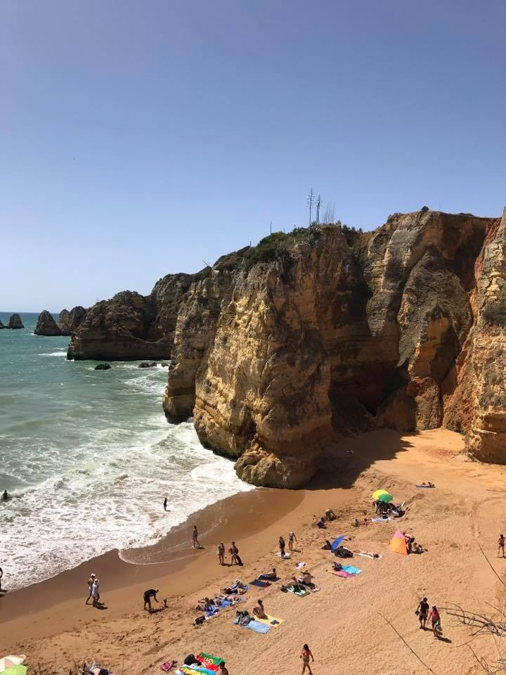 REALITY - My boyfriend booked me a trip to...you guessed it ... PORTUGAL for my birthday in May 2017 and we stayed in a hotel on the EXACT beach. I haven't even shown him the photo so he had no idea this was on my Vision Board!!!