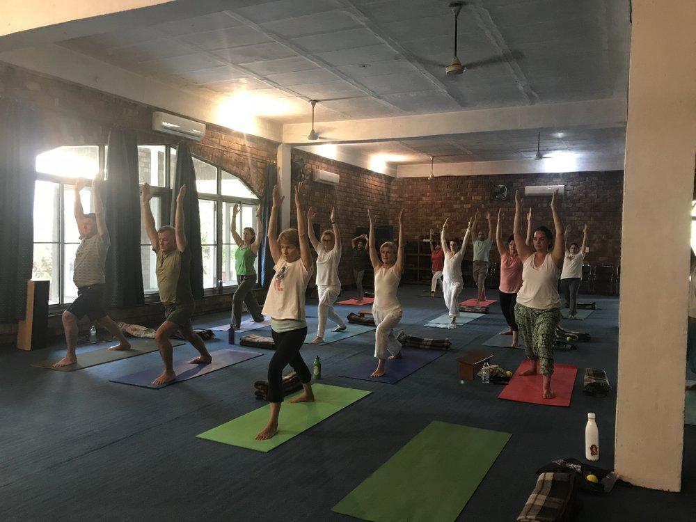 Yoga at Swami Rama's ashram in Rishikesh India
