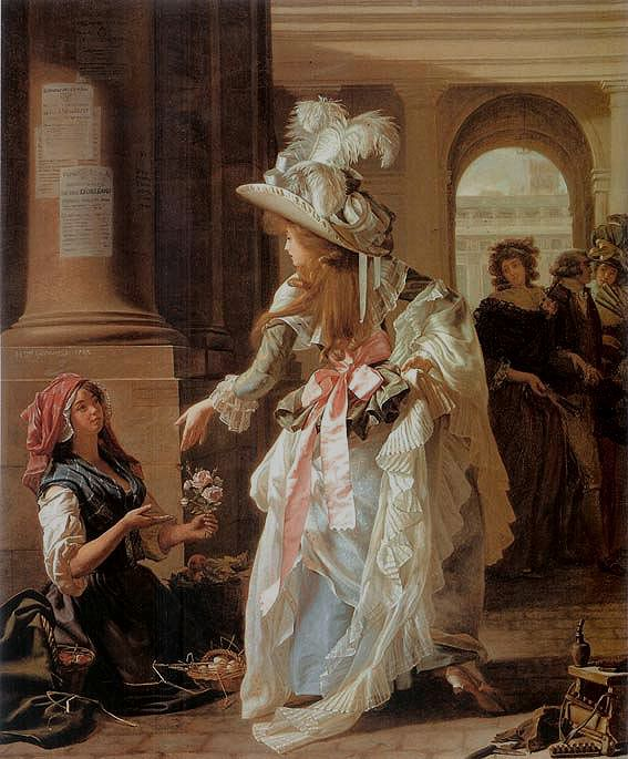 Parisian fashion in the 1700s