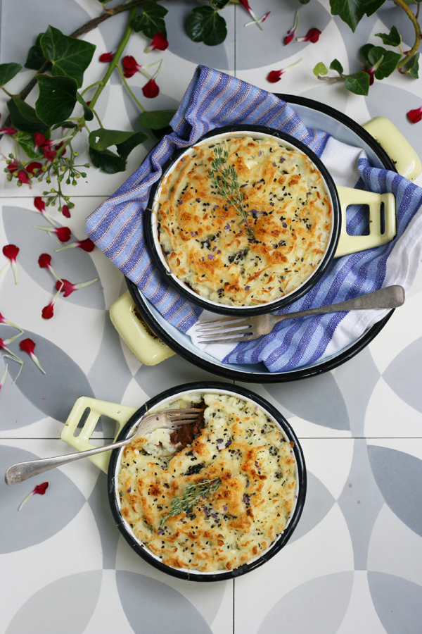 Lentil Pie with Feta and Thyme Mash