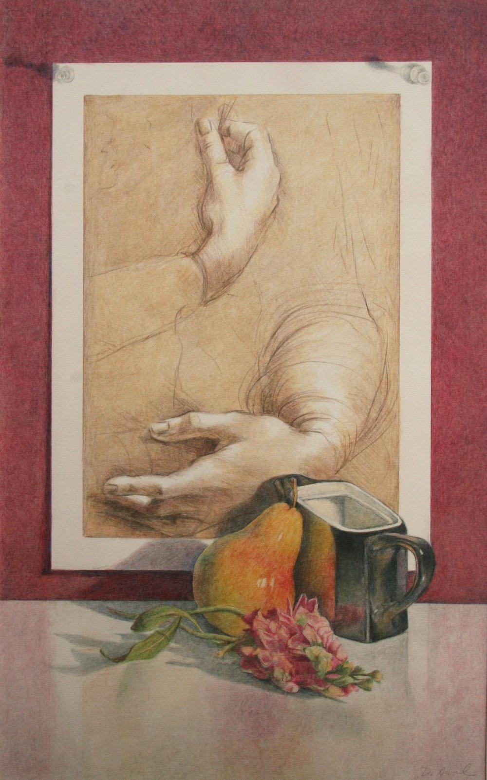 Leonardo's Hands with Black Vase