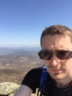 Me at the top of Lochnagar, Scotland.