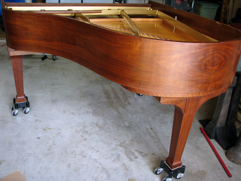 Steinway & Sons Model M with restored walnut case. 2015.