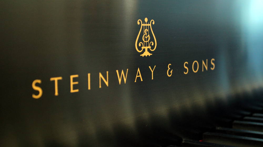 Fallboard detail. Steinway & Sons Model L. Hand-rubbed black lacquer, satin finish. Watson Piano Works, 2015.