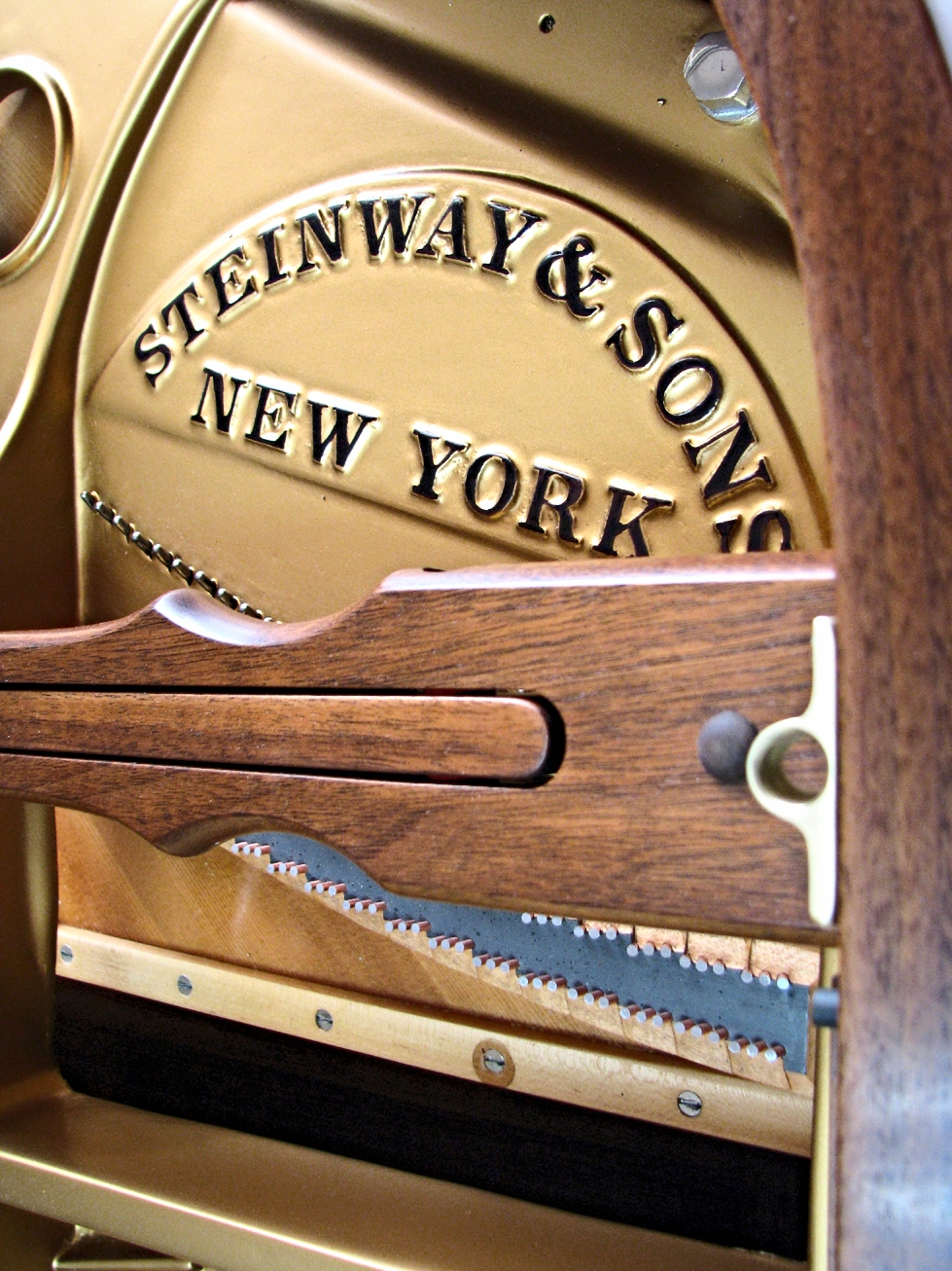 Steinway & Sons walnut Model M plate finish. 2015.