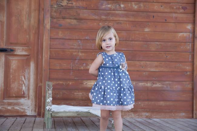 Lunares dress available at Miss Baby, Spain