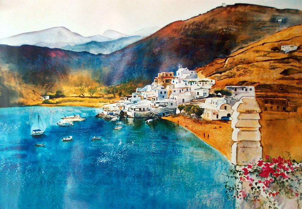 Faros Bay, Sifnos, Greece.