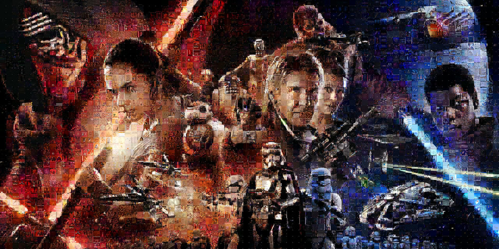 "Target, Star Wars The Force Awakens: Large Canvas (11'6"" x 6')"