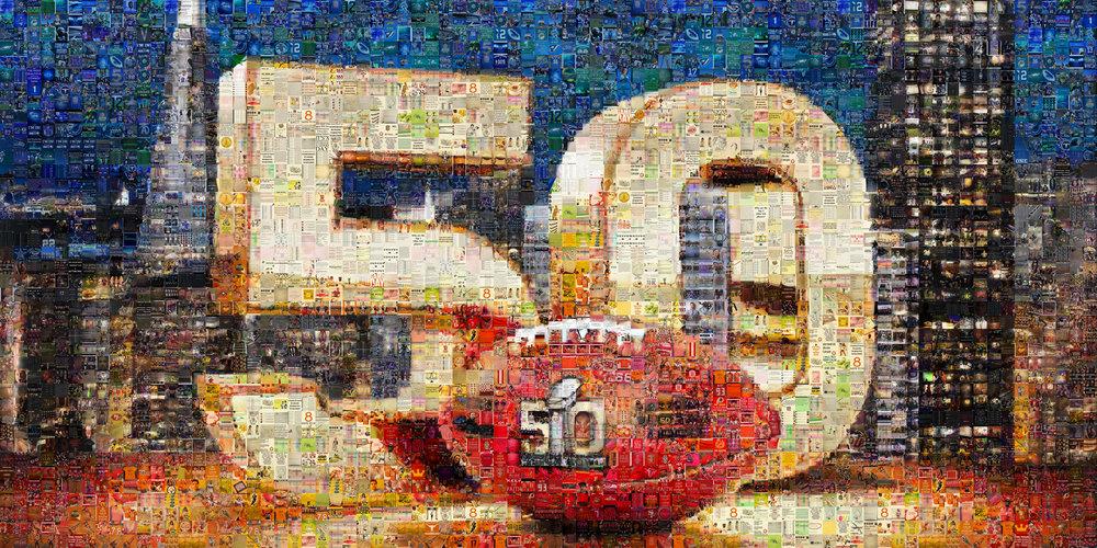 "NFL Superbowl 50: Large Canvas (11'6"" x 6')"