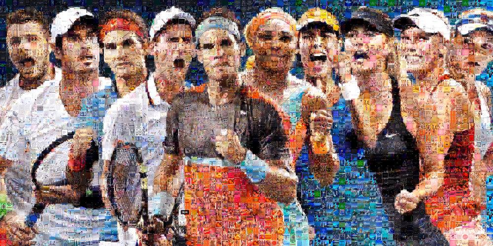 "Australian Open: Large Canvas (11'6"" x 6')"