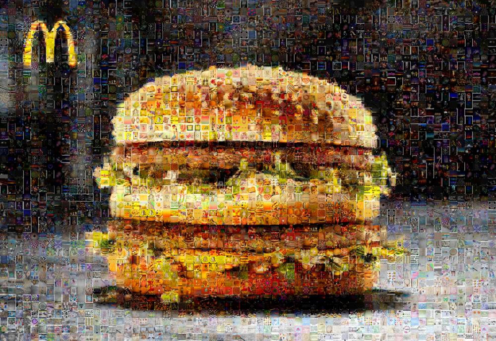 """McDonald's: Medium Canvas (8'6"""" x 6')"""