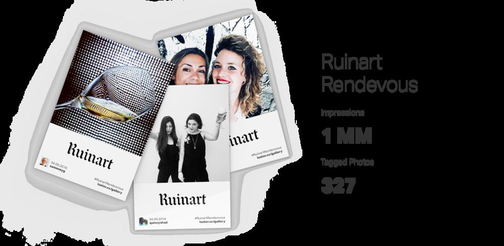 Luster Hashtag Printers: Ruinart