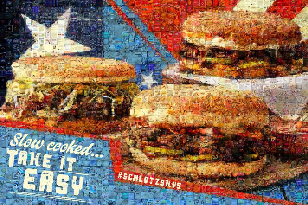 """Schlotzsky's SXSW: Small Canvas (6'4"""" x 4'4"""")"""