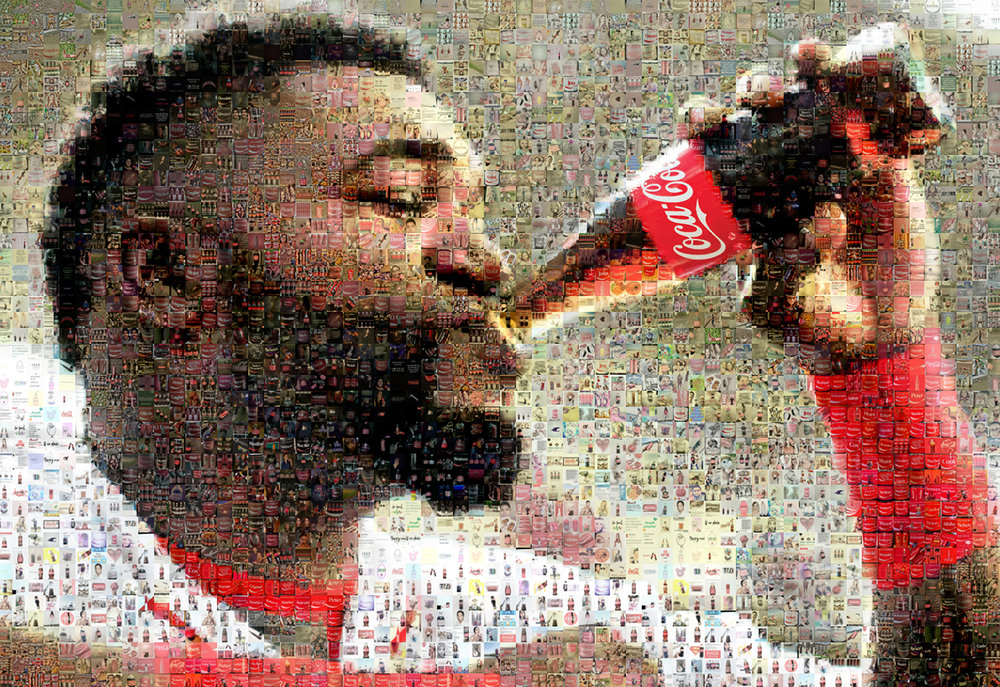 "David Ortiz for Coke: Medium Canvas (8'6"" x 6')"