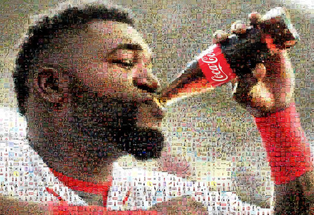 """David Ortiz for Coke: Medium Canvas (8'6"""" x 6')"""