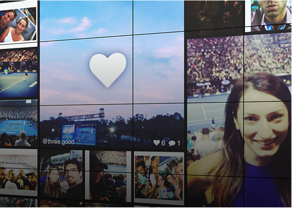 Live Feed - Stream guest's Instagrams to multiple screens.