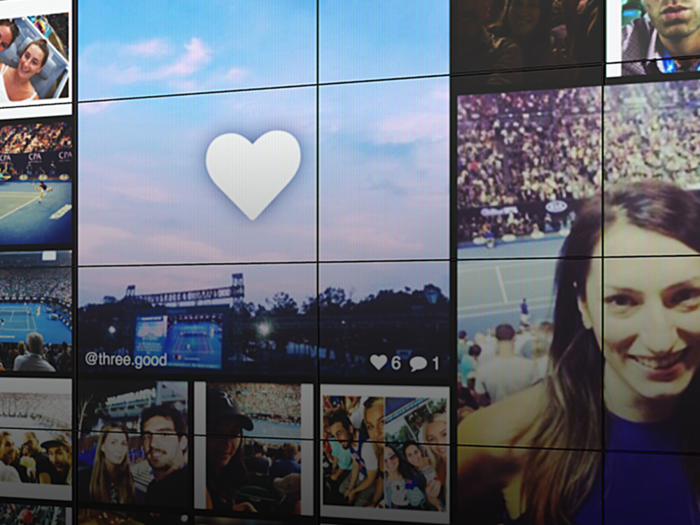 Live Feed - Real-time digital stream of your guests' Instagram and Twitter photos as they capture your event.