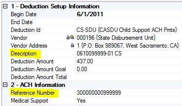 Employee Payroll Setup for Electronic Child Support
