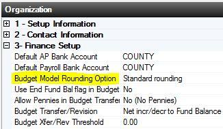 Budget Rounding Options