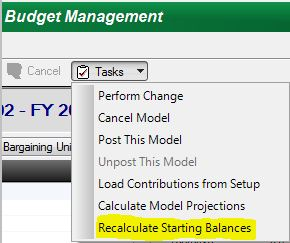 Recalculate Starting Balances