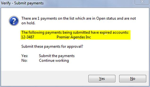 Expired Account Warning