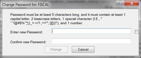 Password Change Dialog