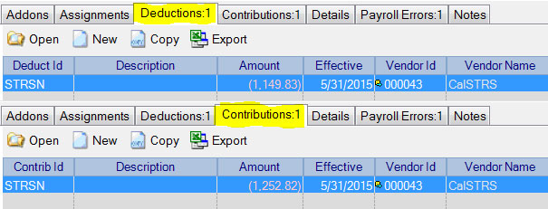 May Deduction and Contribution Adjustments in Adjust Payroll Activity