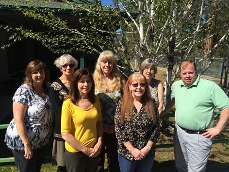 The Plumas COE group: Cherie Whipple, Carla Hamilton, Rhonda Breaux, Laurie Pendray, Pat Brooks, Yvonne Bales, Casey Harding