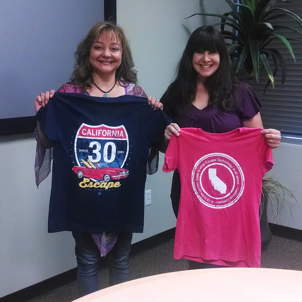 Anita Schwab, Finance and Budget Director at Natomas Charter school, and Kathy Carlson, Escape Project Manager