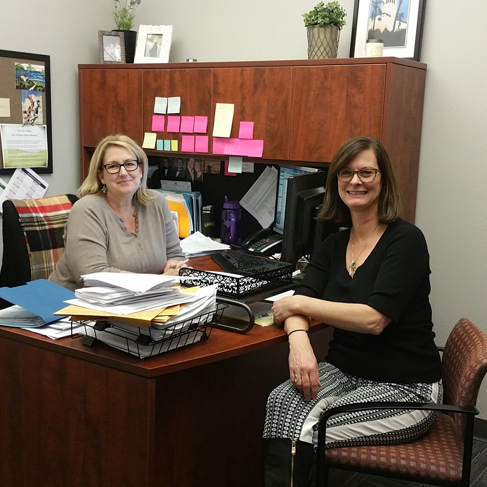 Teryl Wittwer, Accounting Technician, and   Brigid Perakis, Director of HR & Operations, of Rocklin Academy.