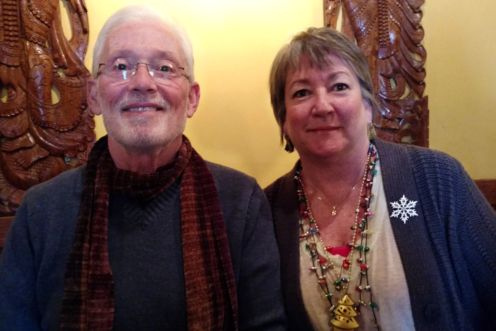 Barry Collins, Retired VP of Escape Customer Care, and Susan Dickinson, Escape Software Developer