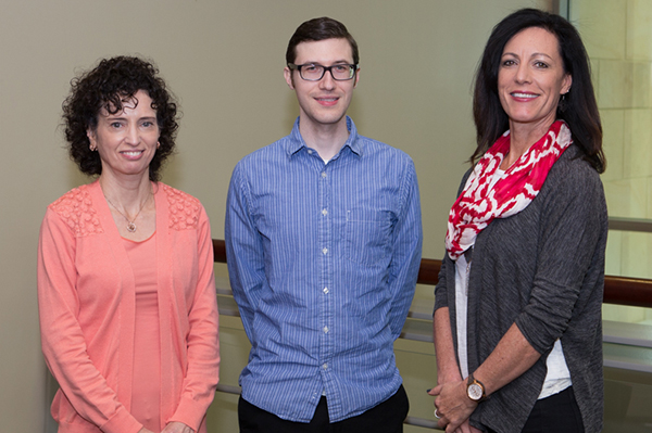 Roxane Bunkers, Finance Specialist; Brian Stokes, HR/Payroll Specialist; and Rebecca Jacobs, Implementation Analyst