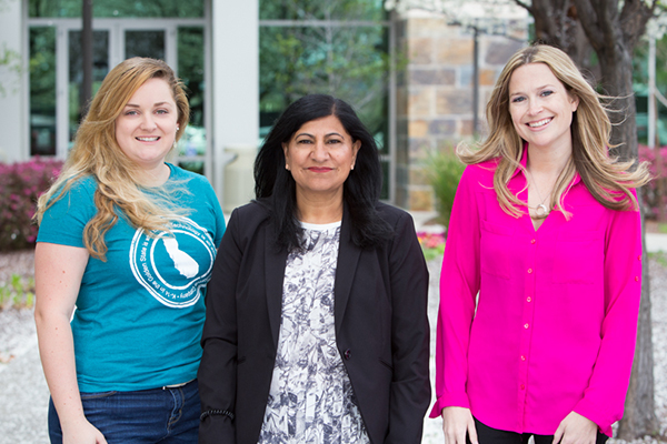 Amanda Erwin, Finance Specialist; Jusbinder Singh, Software Developer; and Siobhan McCormack, Executive Admin/Accounting Assistant