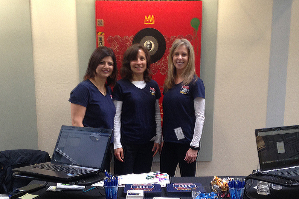 Elen, Robyn and JenE at the Mini CASBO at Twin Rivers USD