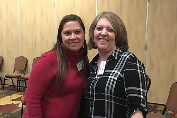 Sandy Muszynski, Business and Accounting Specialist at Kairos Charter School, and Lora Sutherland, Escape HR/Payroll Software Support Analyst