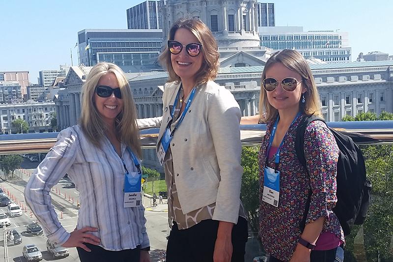 Jennifer Escamilla, Escape Product Manager; Jennifer (JR) Kenney, Software Developer; and Julie Yontrarak,HRA/Custom Product Area Team Manager