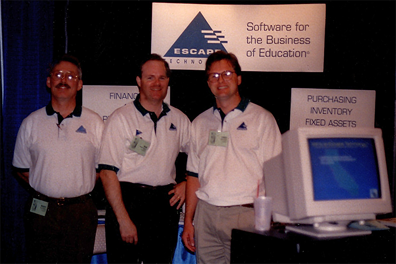 Barry Collins, Bob Towery, and Chad Guest at CASBO, sometime in the Nineties.