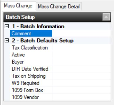 Now, you can load defaults into Vendor records or use a direct edit list for more individualized changes.