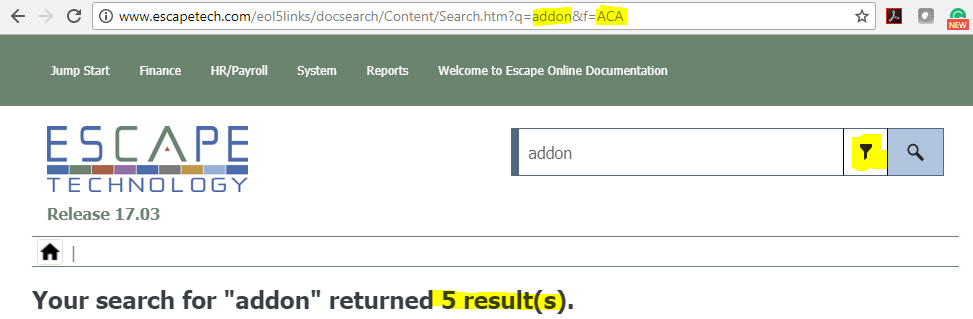 Friday Feature - Searching the Documentation — Escape Technology