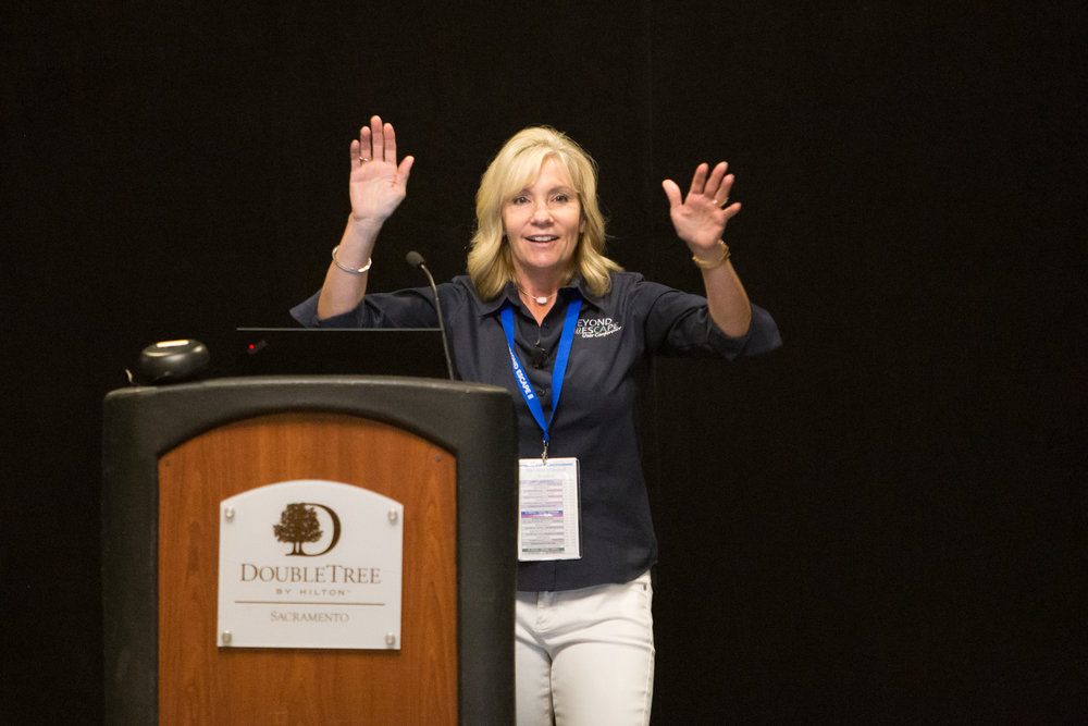 Escape Technology's President Ramona Marshall delivers her opening remarks and shared plans for the busy day, with more break-out sessions than prior years.
