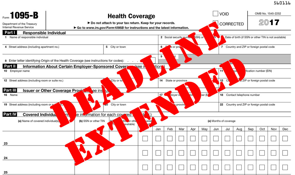 Irs Extends Due Date For Employers To Issue Health Coverage Forms In
