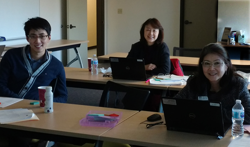 Pictured left to right: Phillip Chang, Fiscal Services Assistant; Michelle Nguyen, Director of Fiscal Services; and Song Chin-Bendib, Assistant Superintendent of Business Services.