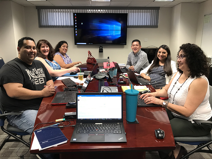 Pictured Above: Staff at Imperial Valley College in a recent work session.