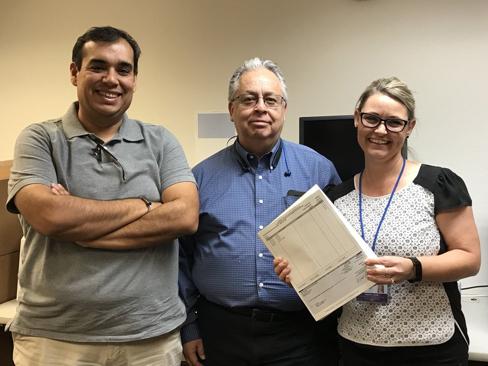 Pictured Above: Francisco Avila, Business Application Developer; Lino Velarde, Chief Information Officer; and Brandi Kalin, Tech Application Specialist.