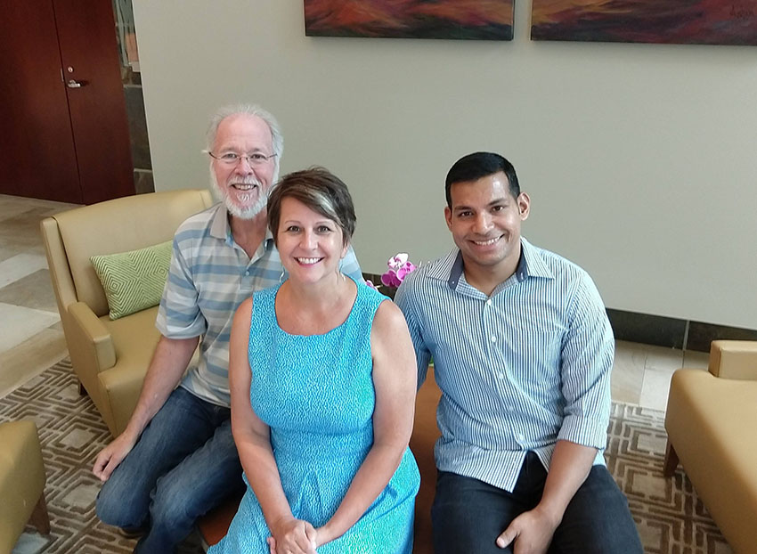 From Left to Right:  Ken Custard, Software Developer; Leslie Bailey, Technical Writer; and Vijay Gaonkar, Software Developer.
