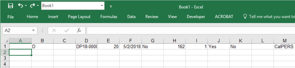 Paste into Microsoft Excel (or any program). The entire line will be pasted, with cells from the direct edit list, copying into individual cells on the spreadsheet.