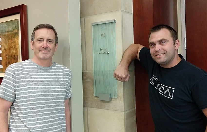 Pictured Above: Randy Ballard, Release Manager and Tim Clayton, Software Support Analyst.