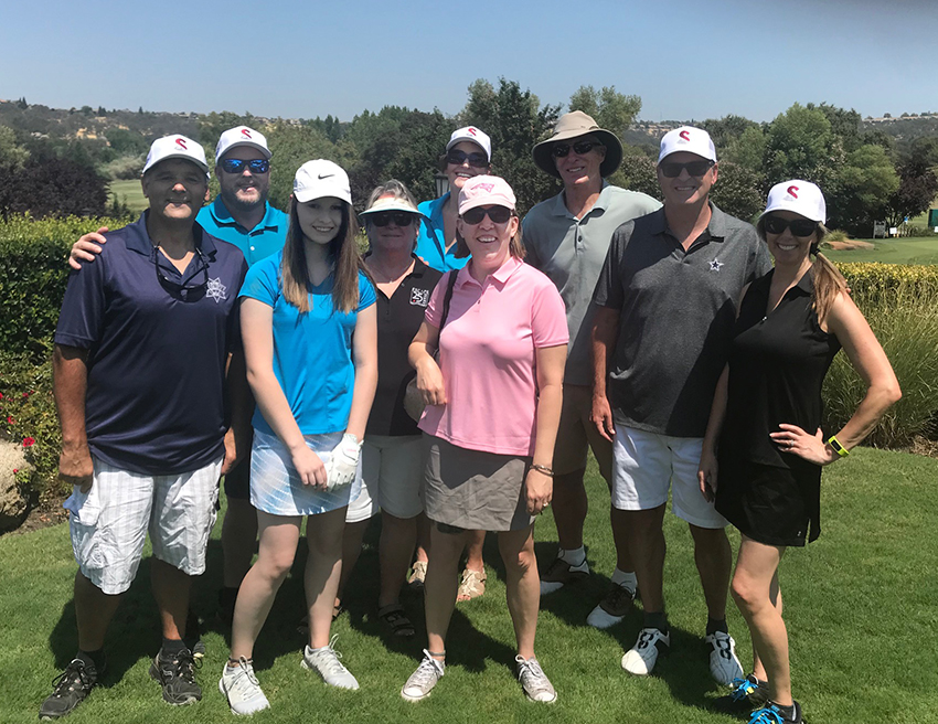 Pictured above from left to right: Troy Kenney, Mike Long, Annah Sutherland, Susan Dickinson, JR Kenney, Lora Sutherland, Steve Randall, Chad Guest and Jennifer Escamilla.